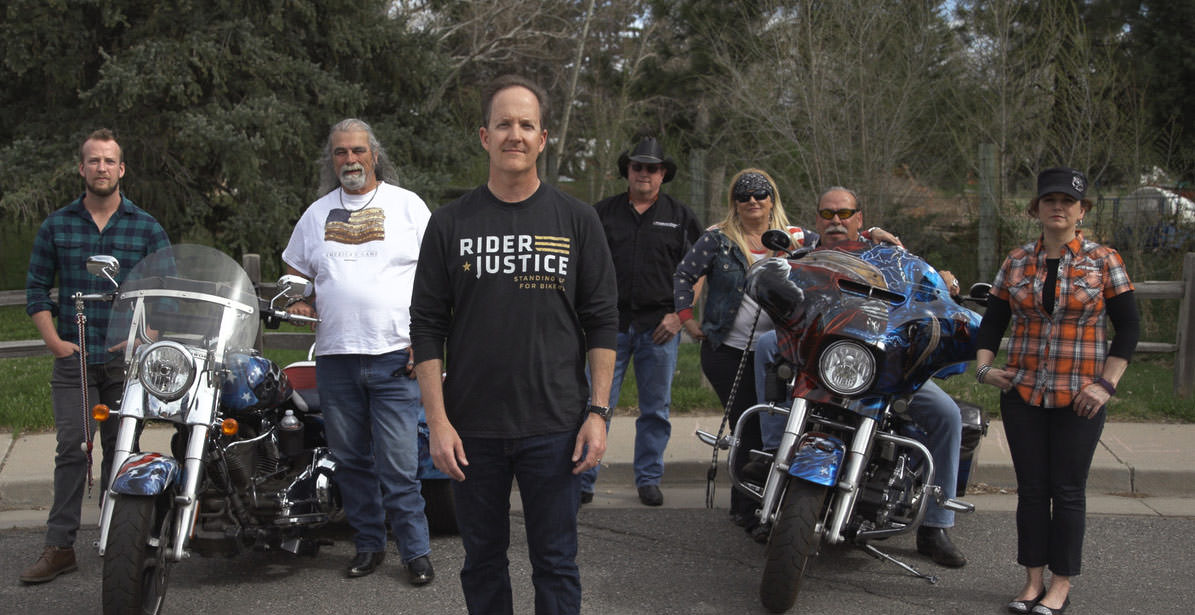 Motorcyclists gathered to share game