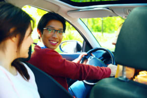 Teens in car - driving safely